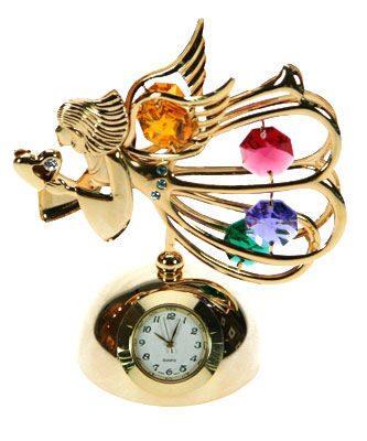 Фигурка декоративная с часами сваровски  Ангел