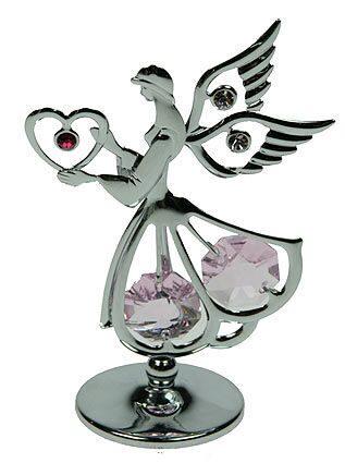 Фигурка декоративная сваровскиАнгел с сердцем