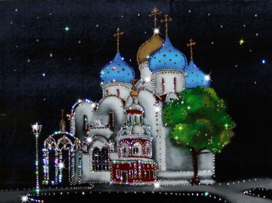 Картина Swarovski Успенский собор Троице-Сергиевой лавры