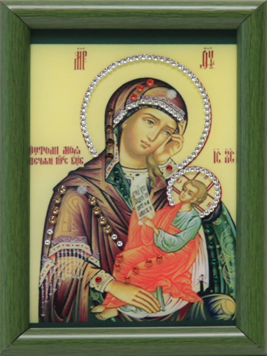 Икона Божией Матери Утоли мои печали настольная