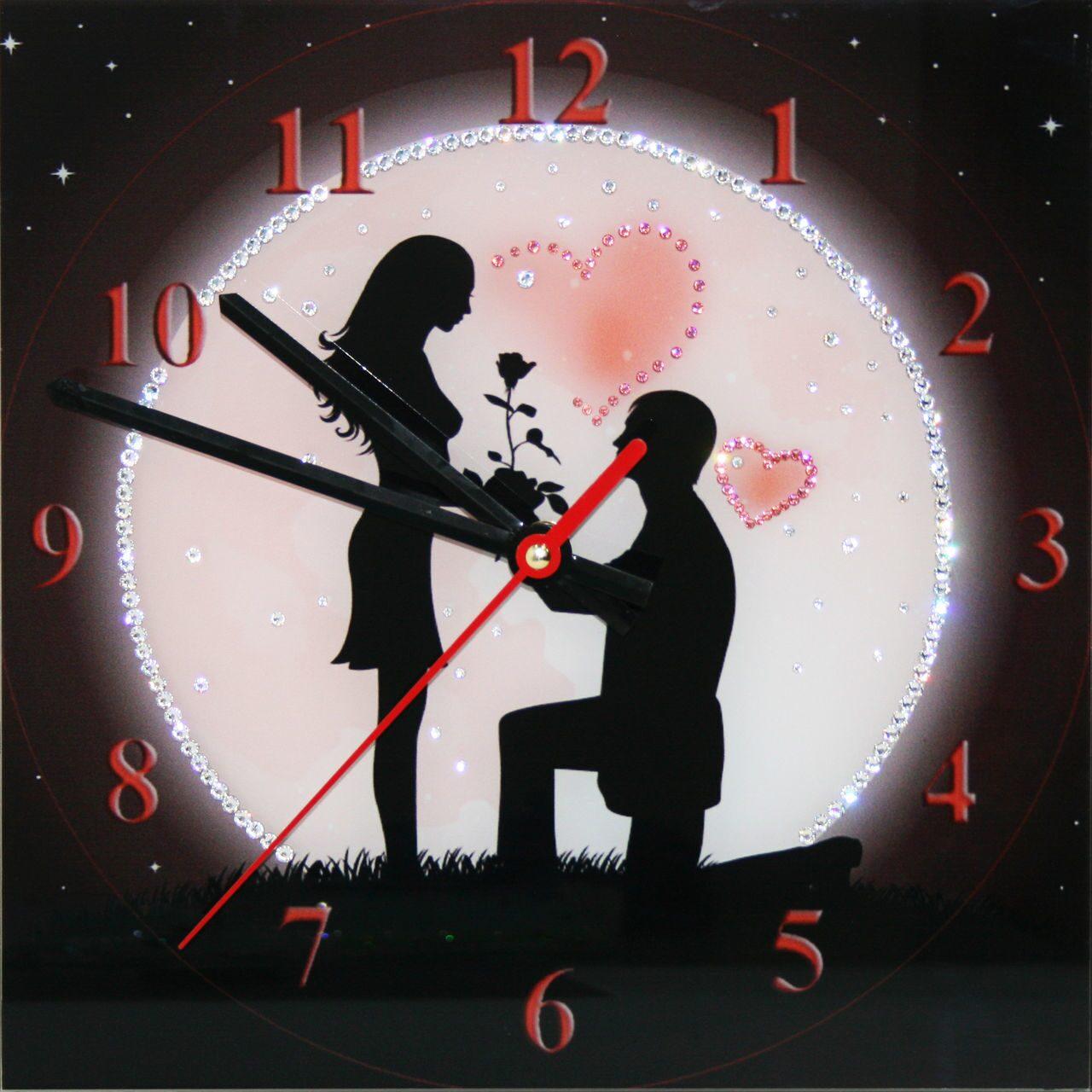 Настенные часы со стразами сваровски Под луной