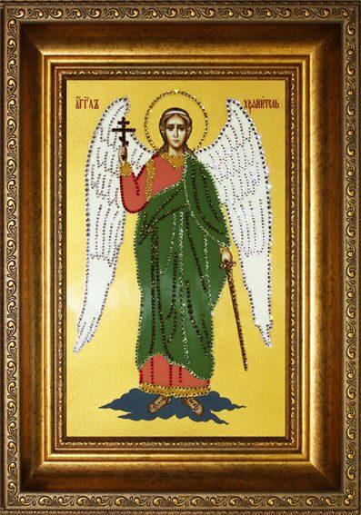 Икона с кристаллами сваровски Ангел-хранитель