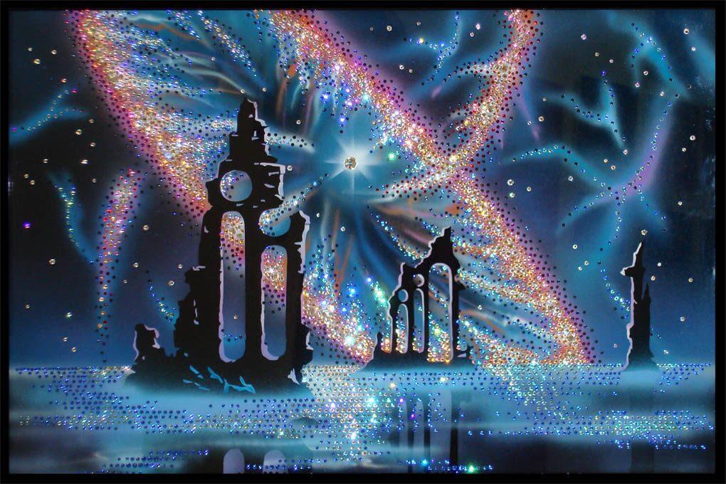 Картина с кристаллами Swarovski  Фэнтази