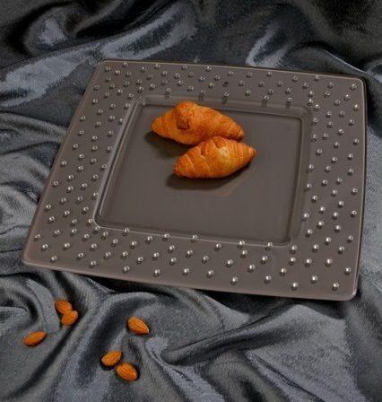 Блюдо квадратное со стразами сваровски Родос