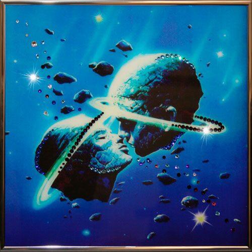 Картина с кристаллами сваровски  Космическая любовь