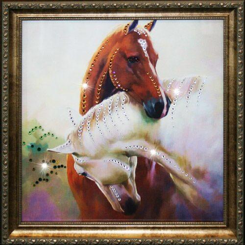 Картина Swarovski Просто любовь