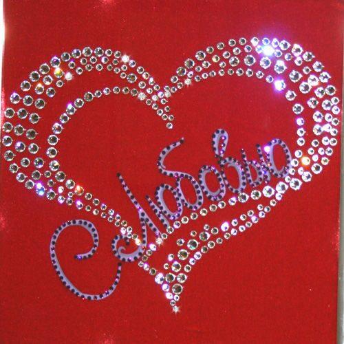 Картина с кристаллами Swarovski Сердце