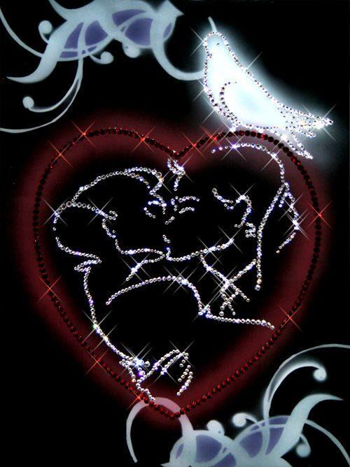 Картина Swarovski С любовью