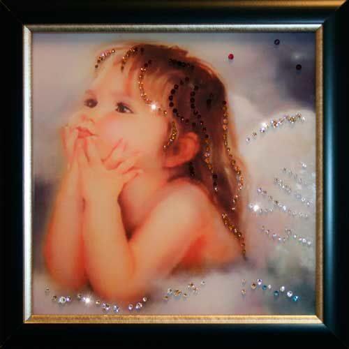 Картина с кристаллами Swarovski  Ты мой ангел
