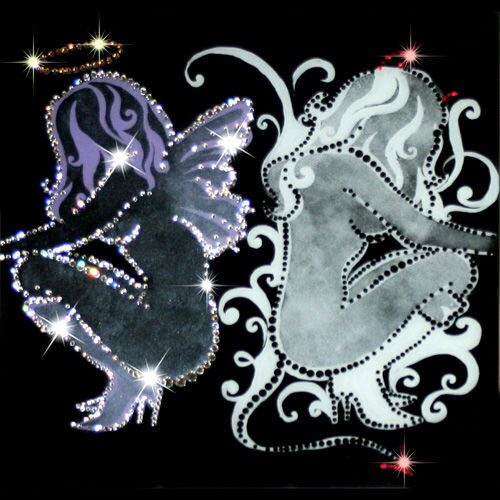 Картина с кристаллами Swarovski  Ангел и демон