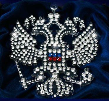 Сувенир с кристаллами Swarovski  Двуглавый орел