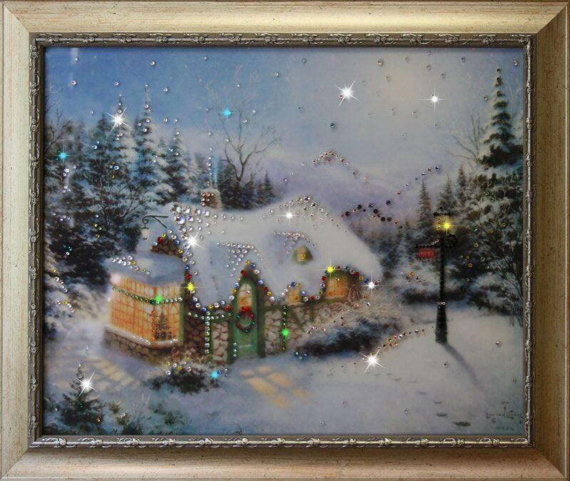 Картина сваровски Рождество