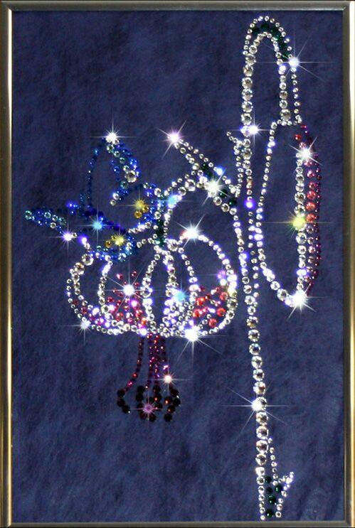 Картина с кристаллами Swarovski  Цветение