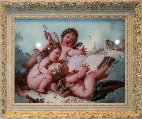 Картина с кристаллами сваровски  Небесные ангелы