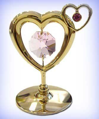 Фигурка с кристаллами сваровски Сердечко