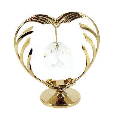 Фигурка декоративная сваровски Сердце с кристаллом