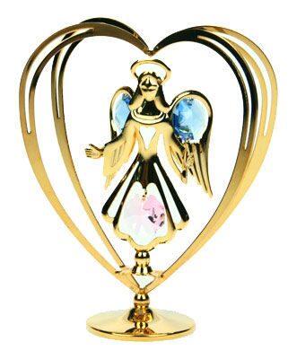 Фигурка декоративная сваровски Ангелок в сердце