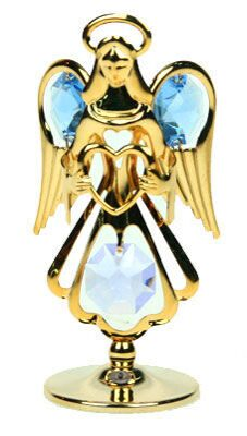 Фигурка декоративная сваровски Ангелок в цвете