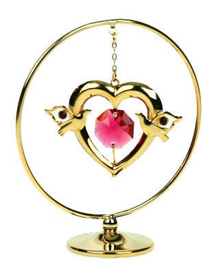 Фигурка декоративная сваровски  Сердце на подвеске