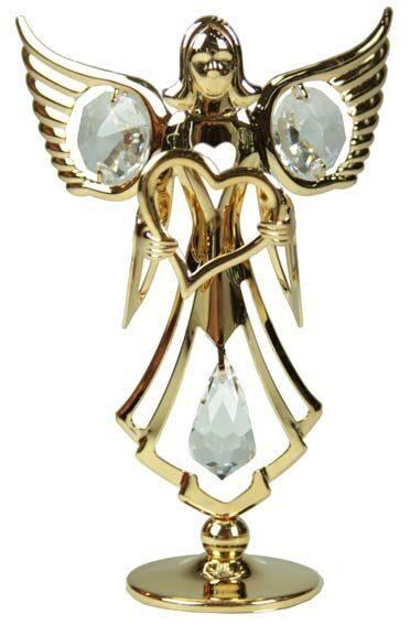 Фигурка декоративная сваровски Ангелок светлый