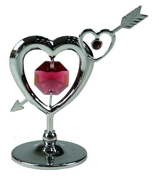 Фигурка декоративная сваровски Сердце