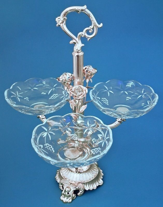 Кабаретница серебряная  Розы