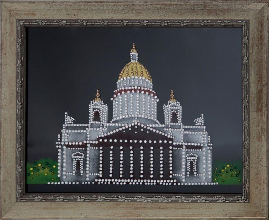 Картина Swarovski Исаакиевский собор в Санкт-Петербурге