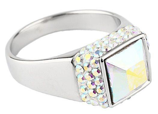 Серебряное кольцо с кристаллами Swarovski Мечта