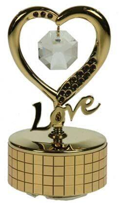 Фигурка декоративная сваровски на музыкальной подставке  С любовью