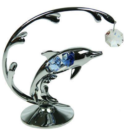 Декоративная композиция сваровски Дельфин