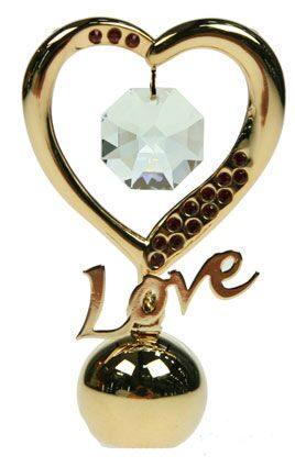 Фигурка декоративная сваровски Сердце-Love