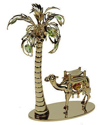 Декоративная композиция сваровски  Верблюд под пальмой