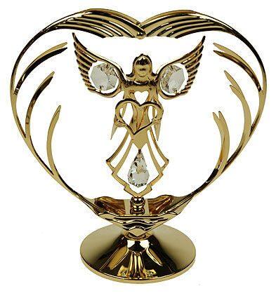 Фигурка декоративная сваровски Ангел в сердце