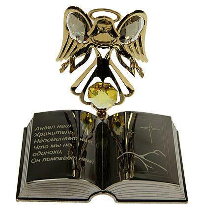 Фигурка декоративная сваровскиАнгел с книгой