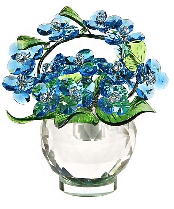 Хрустальный букет Swarovski Синие цветы
