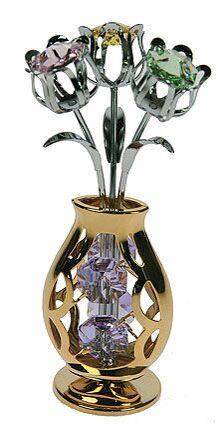Фигурка декоративная сваровски Ваза с цветами