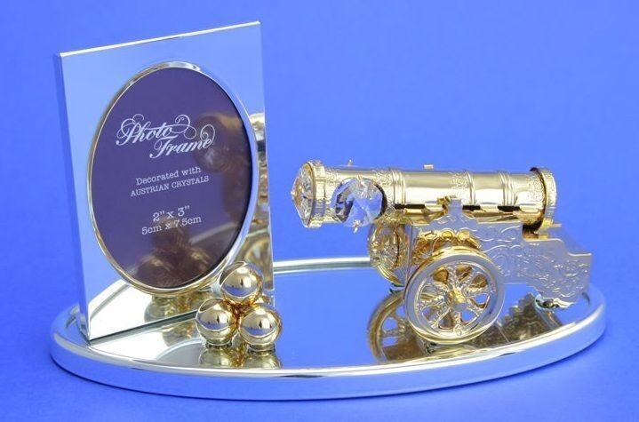 Фоторамка с кристаллами Swarovski Пушка