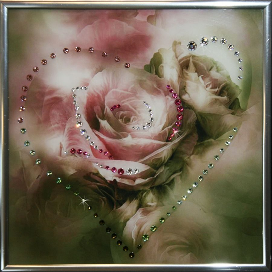 Картина с кристаллами Swarovski Сердечко № 3