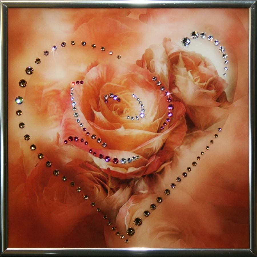Картина с кристаллами Swarovski Сердечко № 4