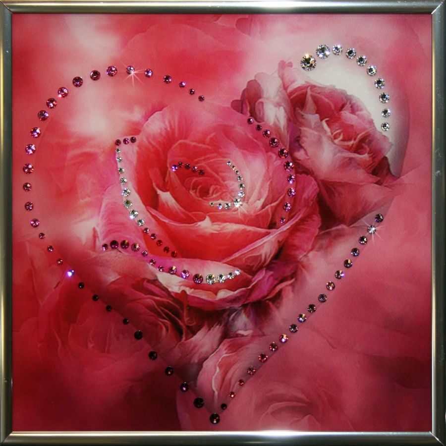 Картина с кристаллами Swarovski Сердечко № 5