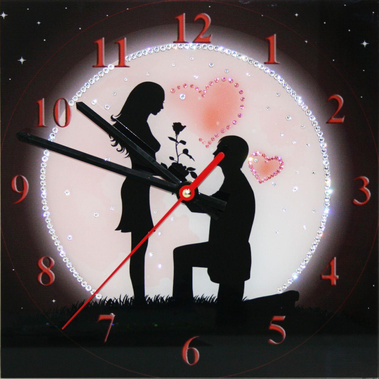 Настенные часы со стразами Swarovski Под луной