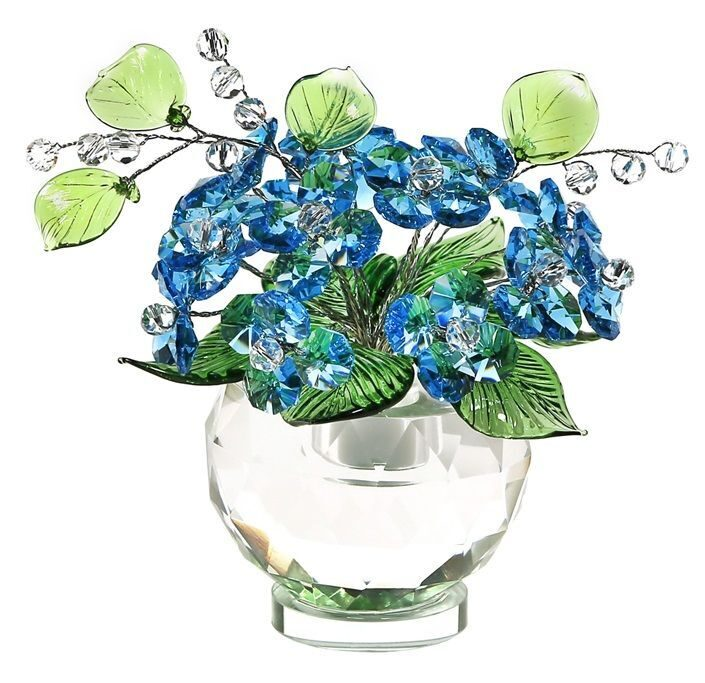 Хрустальный букет Swarovski Ярко голубой
