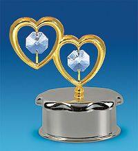 Шкатулка с кристаллами сваровски Сердечки