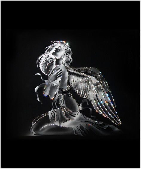 Картина с кристаллами Swarovski  Девушка Ангел