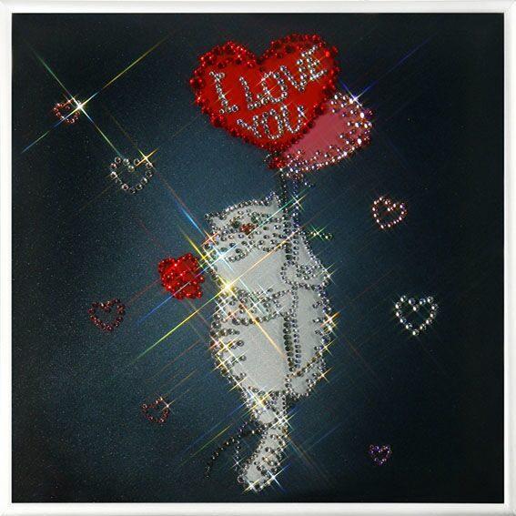 Картина с кристаллами Swarovski  Любовь окрыляет