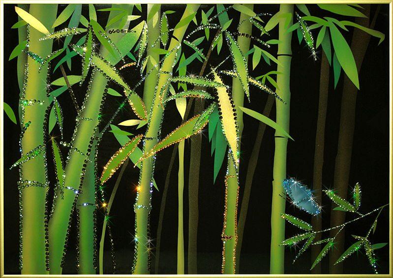 Картина  Swarovski Бамбук 2