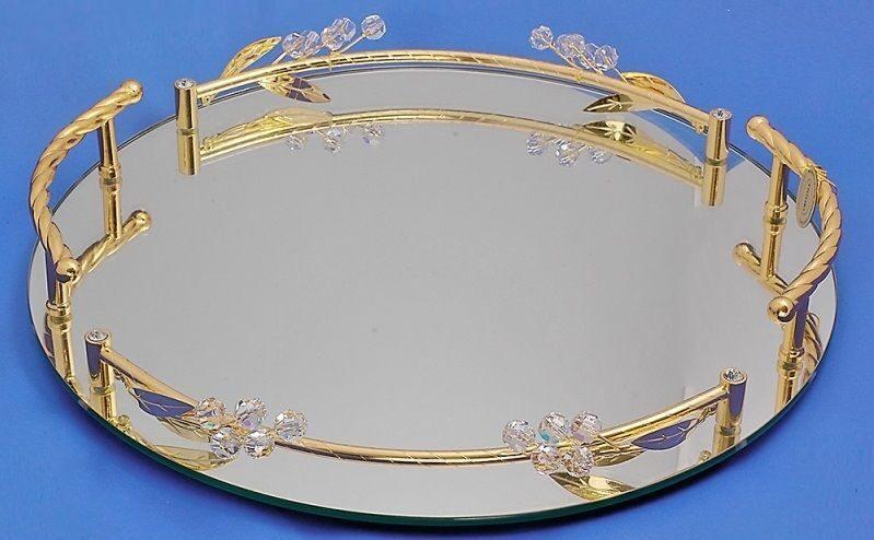 Зеркальный поднос Бутоны