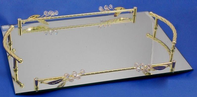 Поднос прямоугольный зеркальный Прозрачность