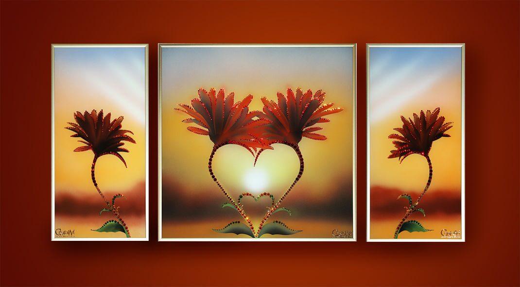 Картина с кристаллами Swarovski  Композиция Природа любви
