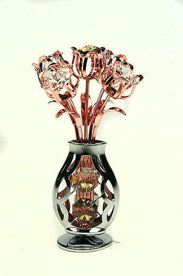 Декоративная фигурка  сваровски Ваза с цветами